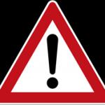 Verkehrsschild nach § 40 Absatz 6 StVO - Gefahrstelle