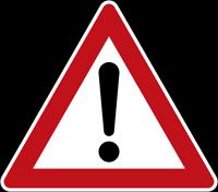 Verkehrsschild nach § 40 Absatz 6 - Gefahrstelle