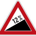 Zeichen 110-12 Steigung 12 %