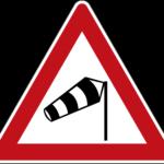 Zeichen 117-10 Seitenwind von rechts