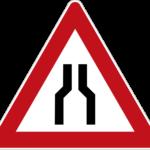Zeichen 120 Verengte Fahrbahn