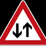 Zeichen 125 Gegenverkehr