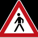 Zeichen 133-10 Fußgänger – Aufstellung rechts